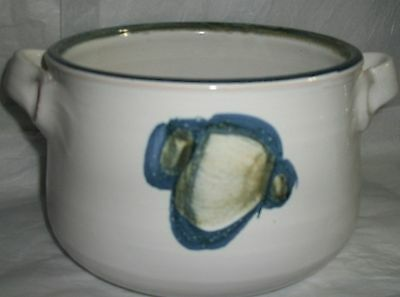 KERAMIK HAND MADE POTTERY POT WITH HANDLES BLYFRI OVNFAST POLLAS GERMANY