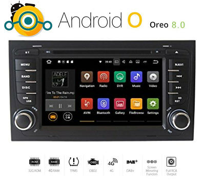 Autoradio Android 8  für Audi A4 S4 RS4  B7 Seat Exeo Navigation GPS MP3 USB