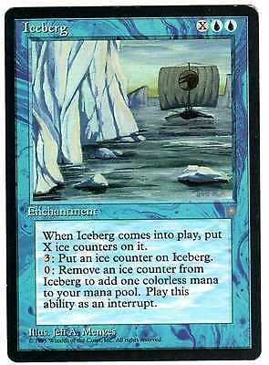 Iceberg carte MAGIC (English used card) ICE AGE ERA GLACIALE VG