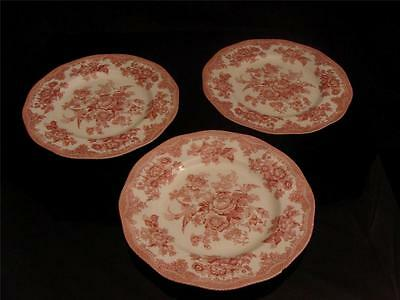 Johnson Bros Asiatic Pheasant Red White Pattern Dinner Plate 10 Inch England