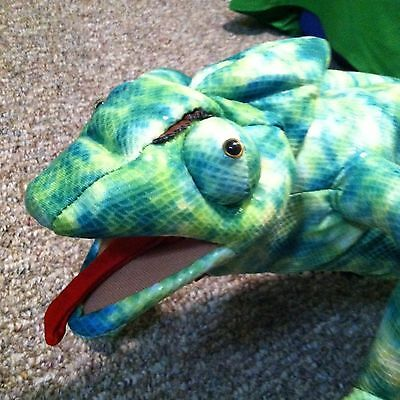 """NEW 26"""" Chameleon lizard Puppet made by Sunny"""