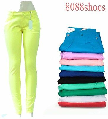 Women's Fashion Sexy Colorful Slim Skinny Leggings Jeans Pants All Size 0 - 15