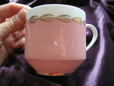 Aynsley pink white gold orphan teacup