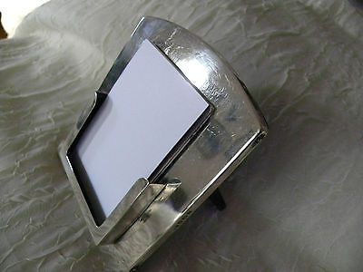 Solid silver Picture frame-like standing desktop calling/business card holder