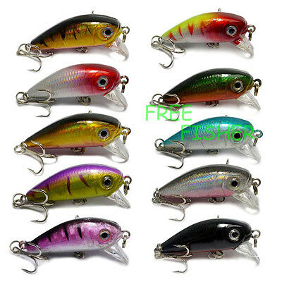 A0176 STOCK 10 PZ ARTIFICIALE SPINNING LURES MINNOW TROTA LUCCIO BASS PIKE LAKE