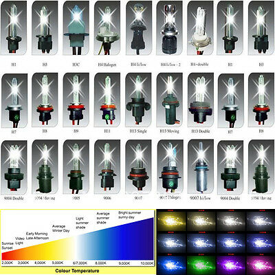 HID Xenon Headlight Replacement Bulbs H1/H3/H4/H7/H13/9004/9006/9003 All Colors