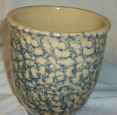 ROSEVILLE POTTERY  ROBINSON RANSBOTTOM 1 QUART KITCHEN CROCK  BLUE