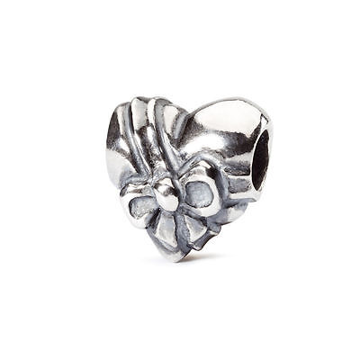 Trollbeads original authentic FIOCCO D'AMORE 1004102012 HEART BOW