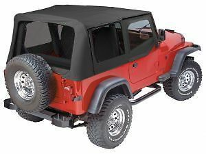 Pavement Ends Replay Top - Black Denim 88-95 Jeep Wrangler YJ Tinted w/ Skins