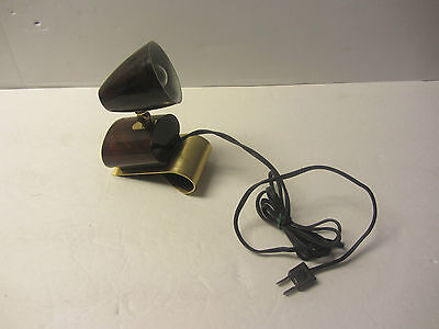 Vintage Underwriters Laboratories Portable Lamp Light  Map Truck Car Boat Clamp