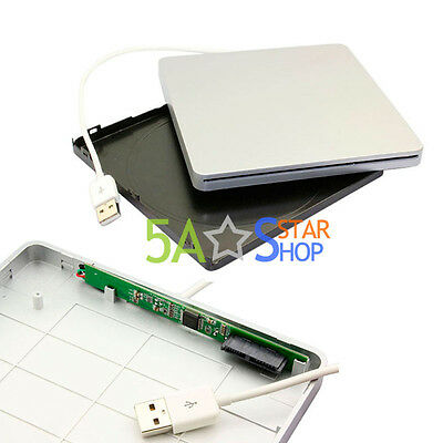 Slot in USB SATA External DVD±RW Drive Case Caddy For Apple MacBook SuperDrive
