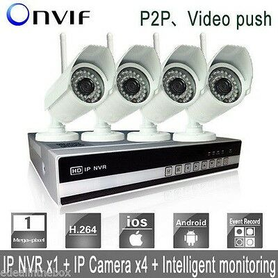 4CH 1080P Network Video Recorder Wireless IP Security HD Camera NVR System wifi