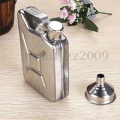 5oz Stainless Steel Jerry Can Hip Flask Liquor Wine Alcohol Pocket Bottle Funnel