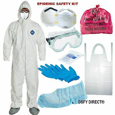 Safety Hazmat Suit Xl, Bug Out, Epidemic, Disasters Survival Protection Kit