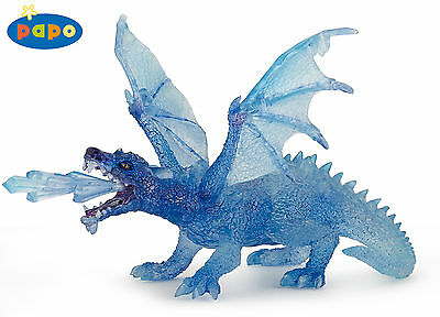 Brand New Papo Crystal Ice Dragon Fantasy World 38980