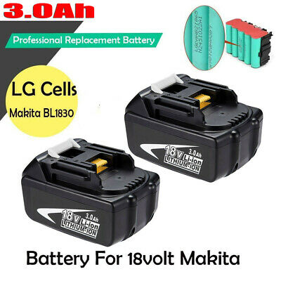 2 Pack NEW 18V 3.0AH Lithium-Ion Battery For MAKITA BL1830 BL1815 LXT 400 Tools