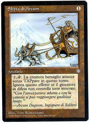 Slitta di Arcum - Arcum's Sleigh carte Magic Era Glaciale ITALIAN CARD NM