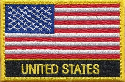 United States of America USA Flag Embroidered Patch Badge - Sew or Iron on