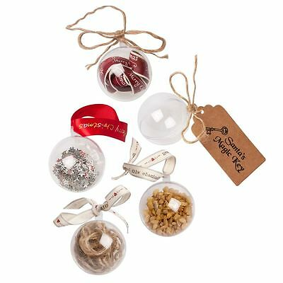 Clear Baubles Plastic Craft bauble Bath Bomb Moulds Soap Christmas Crafts