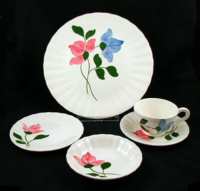 """Blue Ridge/Southern Potteries """"SNAPPY"""" 5 piece Place Setting (s)"""