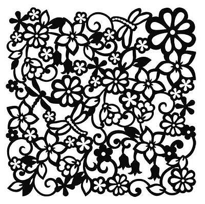 """11.5"""" Large Stencil Floral Pattern Springtime Flowers Furniture Decor Upcycling"""
