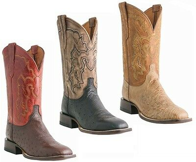 Lucchese M1805, M1806, or M1807 Mens Smooth Ostrich Western Cowboy Roper Boots