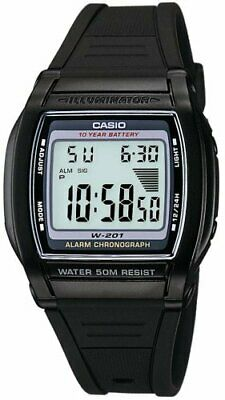 Casio Men's W201-1AV Alarm Chronograph Watch