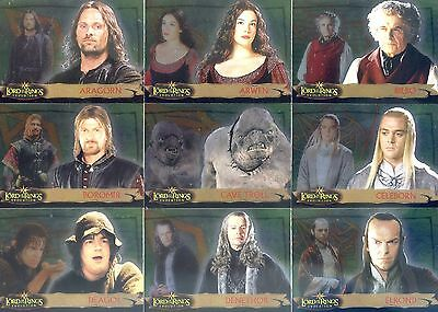 2006 LOTR Lord of The Rings Evolution COMPLETE 72-CARD FOIL BASE SET Topps