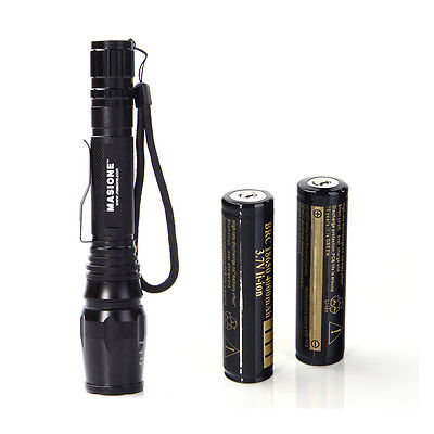 2000LM Zoomable Focus CREE XML T6 LED Flashlight Torch Bike Front Light Battery