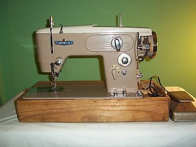 VINTAGE PORTABLE RICCAR SEWING MACHINE-MADE IN JAPAN- G. FOX AND CO.