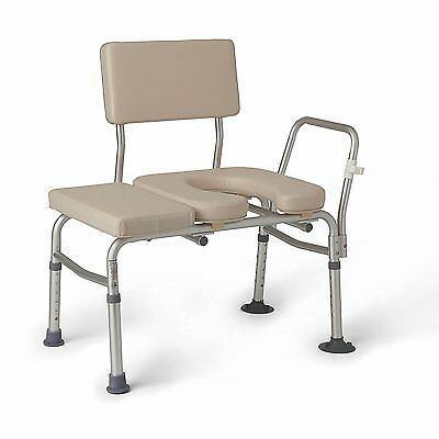 Guardian G98013KD - Padded Transfer Bench w/ Commode Opening!
