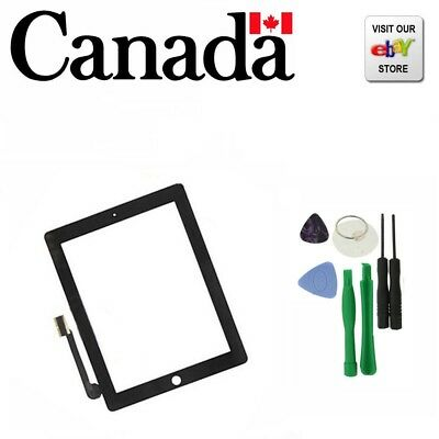 Replacement Touch Screen Glass Digitizer for Apple iPad 3&4 Black NEW