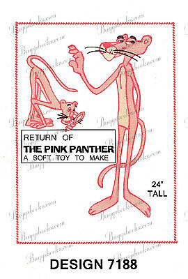 Pink Panther Sewing Pattern - 24 inches tall - circa 1950's