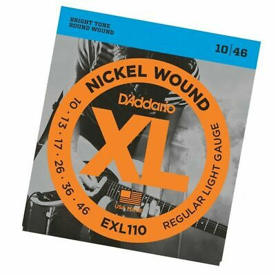 D'Addario EXL110 Nickel Wound Light Electric Guitar Strings 10 - 46 EXL 110 New