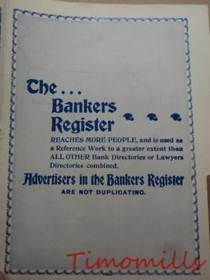 1907 Map of Maine Bank Towns JW White Co Antique Bankers Register OLD