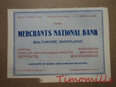1907 Map of Maryland & Delaware Bank Towns JW White Co Bankers w/ Advervitsing