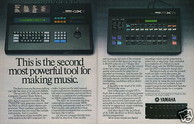 1985 YAMAHA YCAMS Computer Assisted Music System [QX-1, TX816 FM, RX11] Print Ad