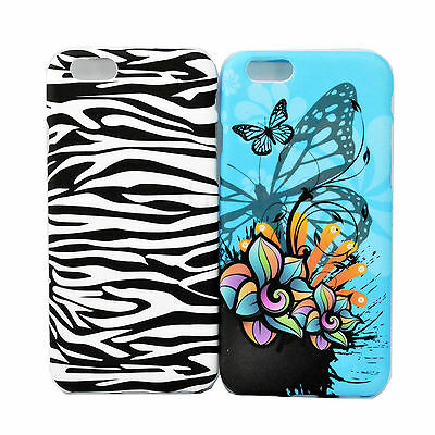 2pcs Fashional Phone Skin Soft Silicone Back Cover Case For Apple iPhone 6 4.7""