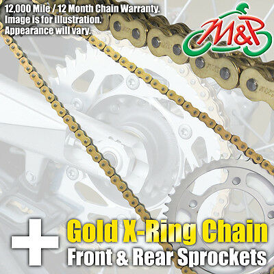 Honda FMX650 2007 Gold XRing Chain and Sprocket Kit
