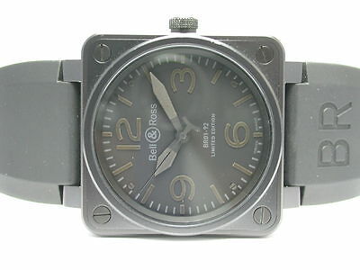 Bell & Ross Br01-92 Limited Edition Aviation Phantom Automatic Mens Watch 46Mm