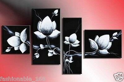 wall art fly In black white flowers home decoration Landscape oil painting