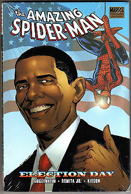 Amazing Spider-Man Election Day HC Marvel Comics USA 2009 Barack Obama Cover
