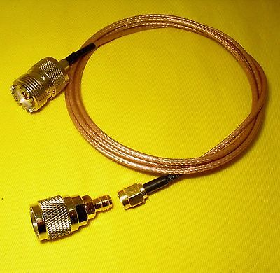 EXTERNAL ANTENNA Coaxial Lead 1m Adapter GME UNIDEN UHF CB Radio Aerial MultiFit