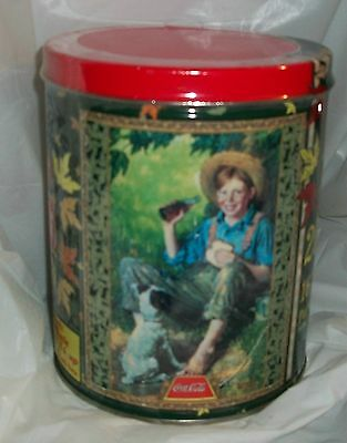 1998 SEALED 200PC COCA COLA SP EDITION BOY AND DOG PUZZLE IN TIN CAN