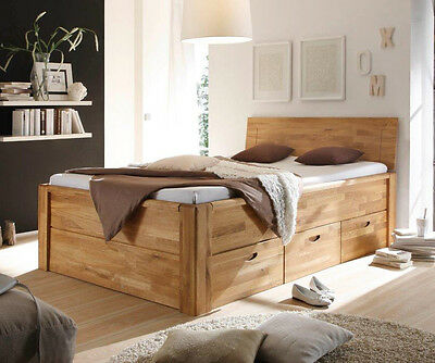bett massivholz massiv schubladen 140x200 180x200 bett doppelbett elena. Black Bedroom Furniture Sets. Home Design Ideas
