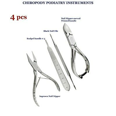 Podiatrist Chiropodist ingrown toenails Cutter Nipper Kit of 5 Foot Care TK PLUS
