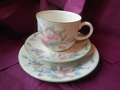 ROYAL DOULTON EXPRESSIONS CARMEL CUP SAUCER & PLATE - ENGLISH CHINA 1991