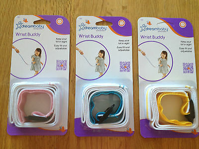 New Dreambaby Wrist Buddy Harness Toddler Baby Child Walking Safety Strap Dream