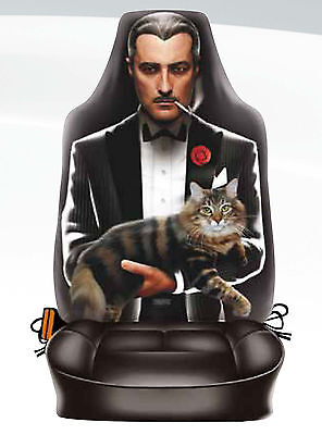 The GODFATHER Car Seat Cover UNIVERSAL FIT Microfiber Life Size New ITATI