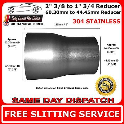 60mm to 45mm Stainless Tapered Standard Exhaust Reducer Connector Pipe Tube